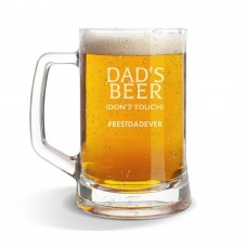 Don't Touch Glass Beer Mug