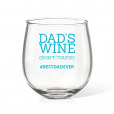 Don't Touch Stemless Wine Glass