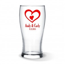 Double Heart Standard Beer Glass