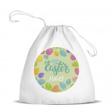 Easter Hunt White Drawstring Bag
