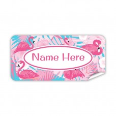Flamingo Rectangle Name Label