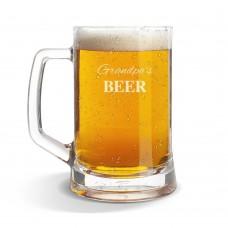 Grandpa's Glass Beer Mug