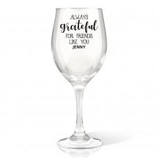 Grateful Wine Glass