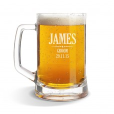 Groom Glass Beer Mug