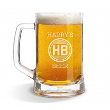 Harry's Glass Beer Mug