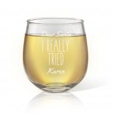 I Tried Stemless Wine Glass