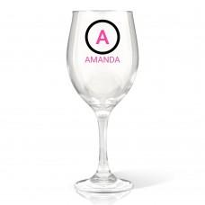 nitial Wine Glass