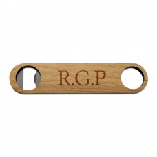 Initials Wooden Bottle Opener