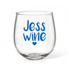 Jess Stemless Wine Glass