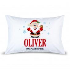 Jolly Santa Pillow Case