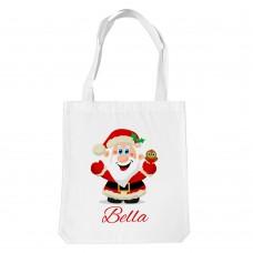 Jolly Santa White Tote Bag