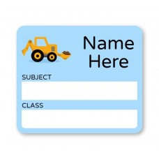 Yellow Digger School Book Label