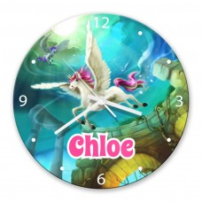 Magical Unicorn Glass Wall Clock