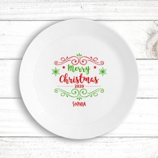 Merry Christmas Kids' Plate