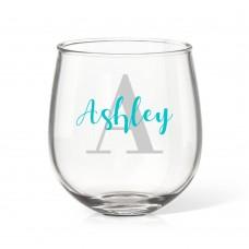 Monogram Stemless Wine Glass