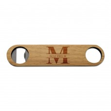 Monogram Wooden Bottle Opener
