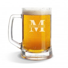Monogram Glass Beer Mug