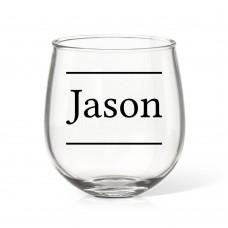Name Stemless Wine Glass