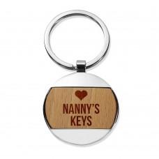 Nanny's Round Metal Keyring