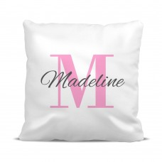 Pink Monogram Classic Cushion Cover