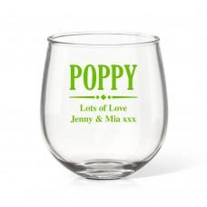 Poppy Stemless Wine Glass