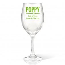 Poppy Wine Glass