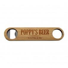 Poppy's Wooden Bottle Opener