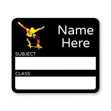 Skater School Book Label