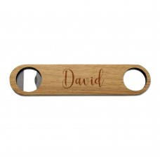 Stylish Name Wooden Bottle Opener