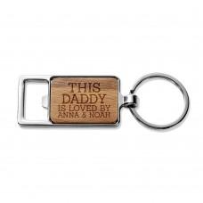 This Daddy Rectangle Metal Keyring