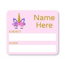 Unicorn School Book Label