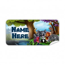 Visits the Zoo Rectangle Name Label