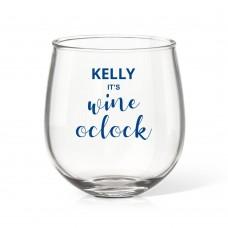 Wine Time Stemless Wine Glass