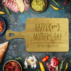 1st Mother's Day Rectangle Bamboo Serving Board