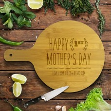 1st Mother's Day Round Bamboo Paddle Board