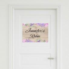 Flower Door Sign