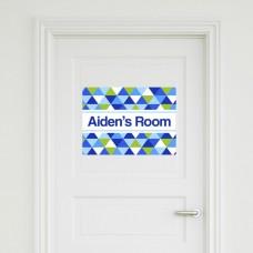 Geometric Door Sign