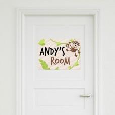 Monkey Door Sign