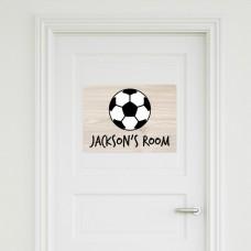 Soccer Ball Door Sign