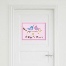 Two Birds Door Sign