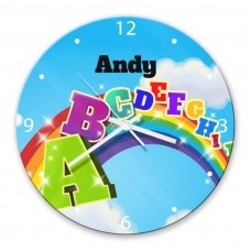 A to Z Glass Wall Clock