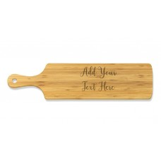 Add Your Own Message Long Bamboo Serving Board
