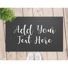 Add Your Own Message Door Mat