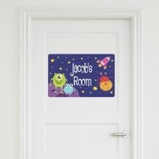 Aliens Door Sign