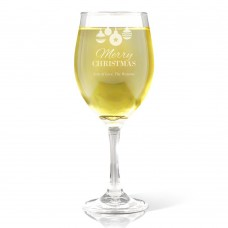 Bauble Engraved Wine Glass