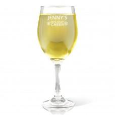 Holiday Cheer Wine Glass