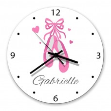 Ballet Shoes Glass Wall Clock