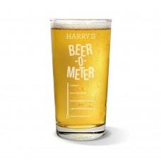 Beer Meter Pint Glass