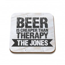 Beer Therapy Square Coaster