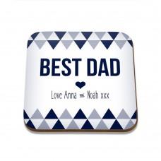 Best Dad Square Coaster